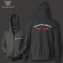 Friends you are my lobster men women unisex zip up hoodie hooded sweatershirt 800g organic cotton polyester fleece Free Shipping