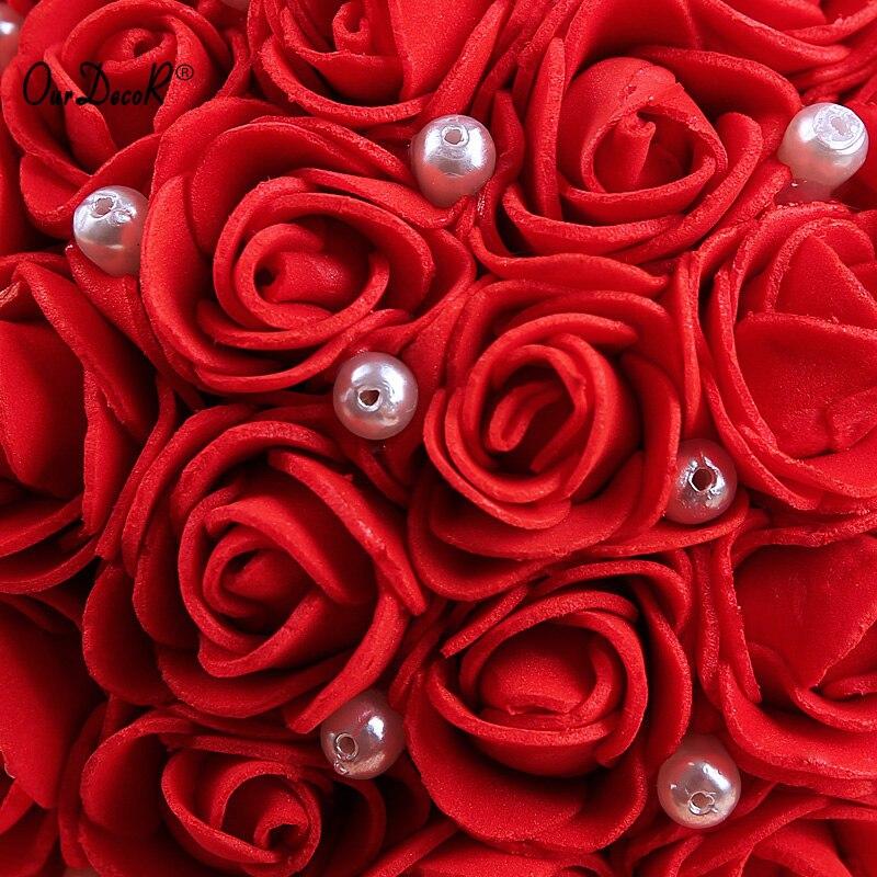Bröllop favoriserar Häng Ring Pillow Med Transprent Box Hjärta - Semester och fester - Foto 4