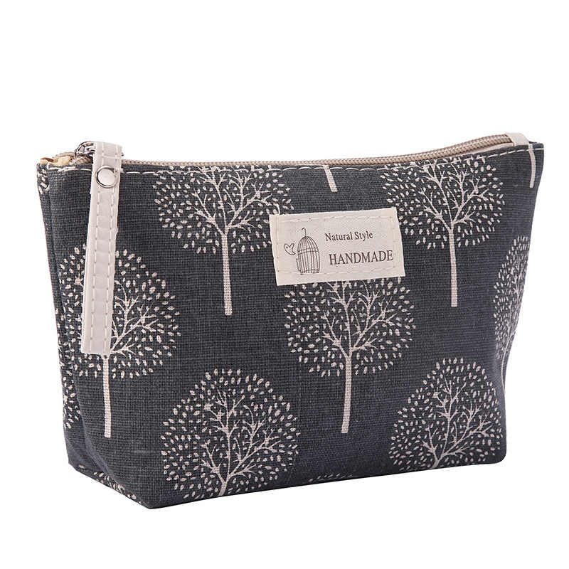 Women Plaid Travel Cosmetic Bag Makeup Bag Handbag Female Zipper Purse Small Cosmetics Make Up Bags Travel Beauty Organizer