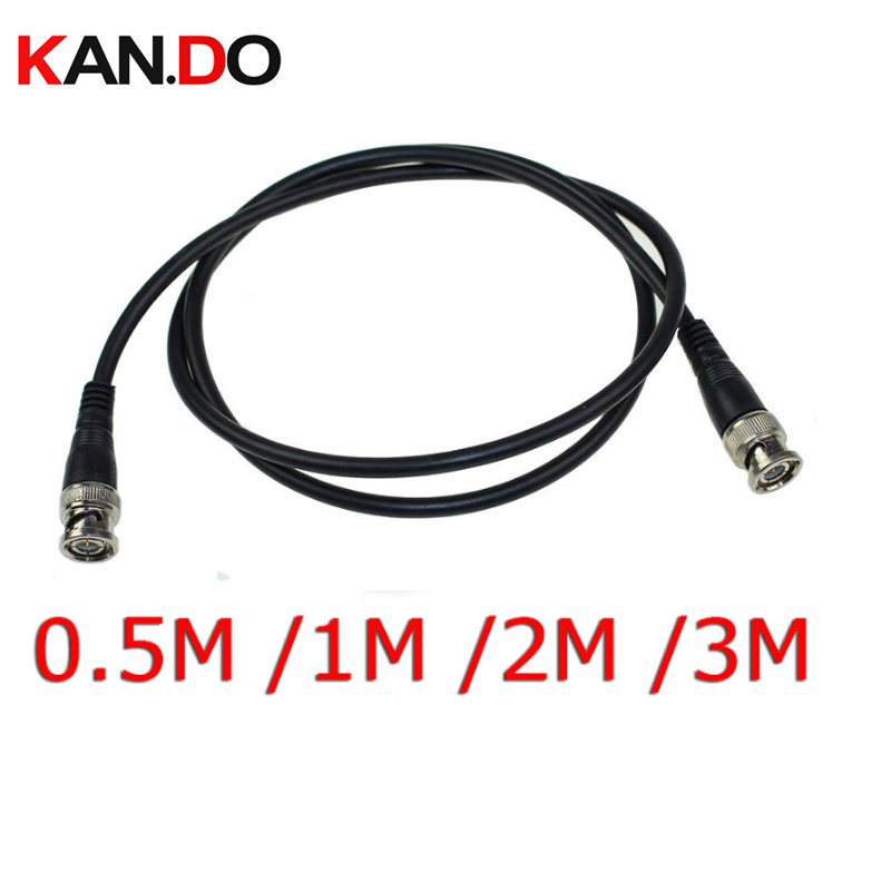 цена на 0.5M /1M / 2M /3M BNC Male to BNC Male M/M RG59 CCTV Camera Coaxial Cable Adapter Lead Jumper Coax Male Extension Cable