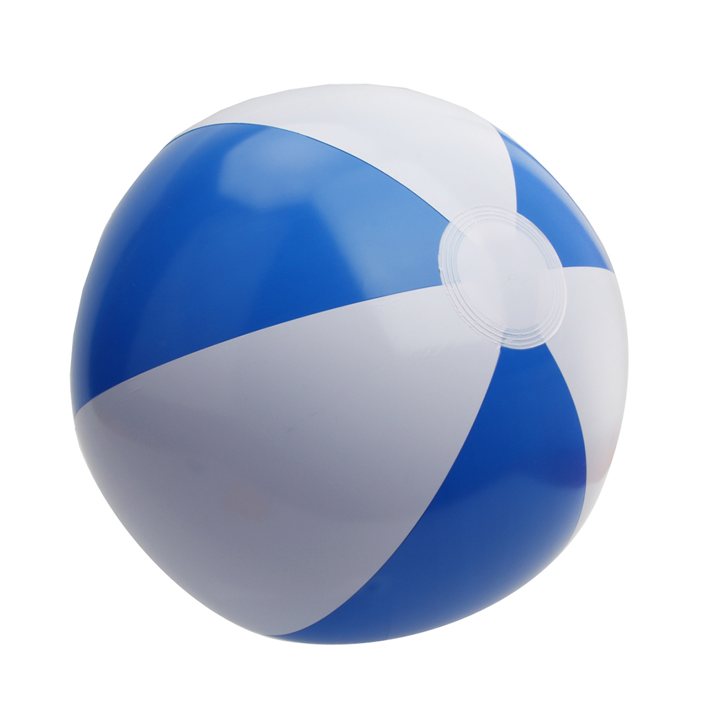 12inch Blue&White Beach Ball Bathing Ball Inflatable Beach Ball Pool Toys Good Fun In The Garden Pool Or Home Great Party Item