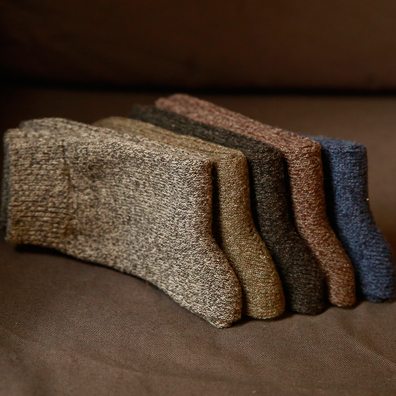 Men's Thick Cotton Socks Special Winter Thick Warm Socks High Quality Winter Mens Harajuku Retro Warm Wool Dress Socks (5 Pairs)