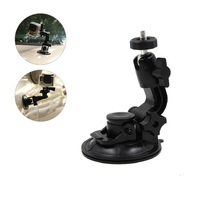 TELESIN Car 9 5cm Large Suction Cup Mount 1 4 Steel Thread Tripod For GoPro Hero