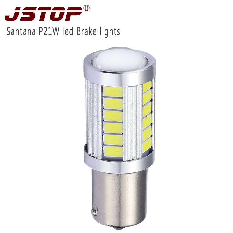 JSTOP Vw Santana led Brake lamp high quality red Ba15s light <font><b>Canbus</b></font> lamp white 6000k lights <font><b>1156</b></font> car <font><b>P21W</b></font> bulbs led Brake Lights image