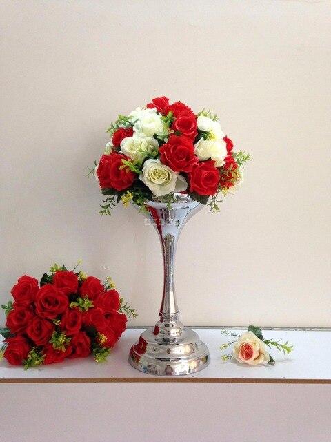 41cm Tall Silver Wedding Flower Vase Flower Stand Table Centerpiece
