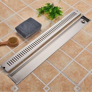Image 2 - ステンレス鋼浴室の床排水 900 ミリメートルリニアロングシャワー火格子浴室チャンネルタイル排水