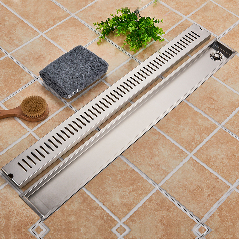 Image 2 - Stainless Steel Bathroom Floor Drain 900MM Linear Long Shower Grate Bathroom Channel Tile Drains-in Drains from Home Improvement