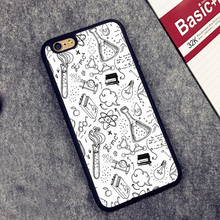 Science Biology Chemistry Mathematics Pattern Soft Rubber Phone Cases OEM For iPhone 6 6S Plus 7 7 Plus 5 5S 5C SE 4S Cover Skin