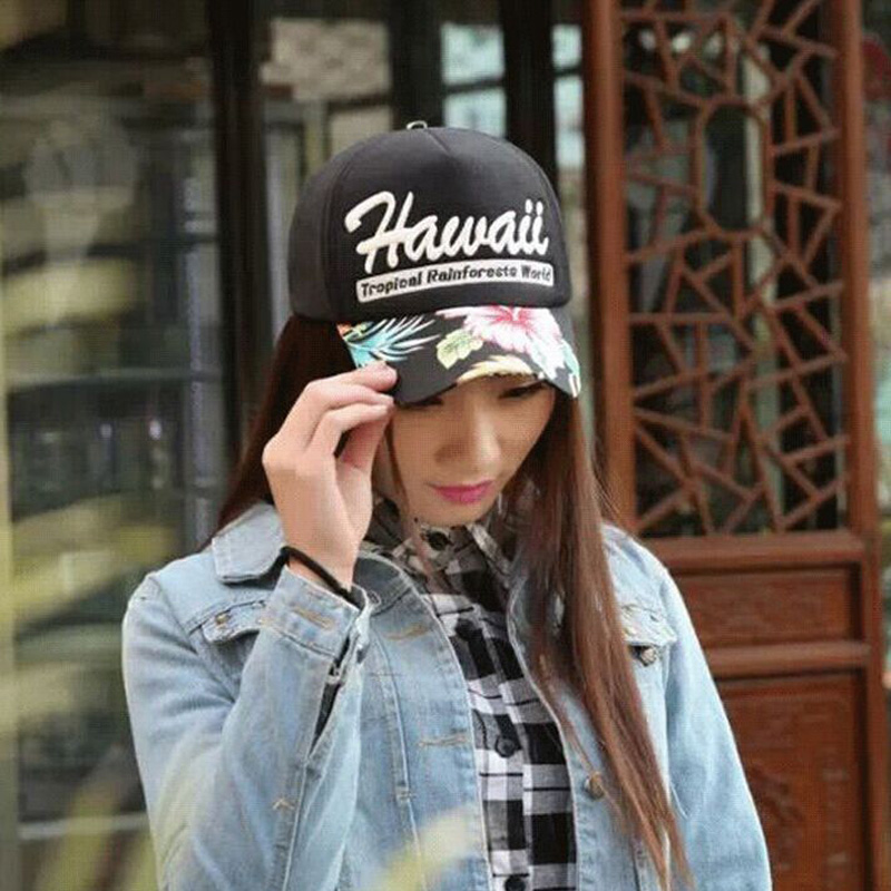 2016 New Fashion Bone Letter HAWAII Baseball Caps Summer Women Snapback Hats For Men gorras retail 2 Colors 8062 рубиновая книга сказок cdmp3