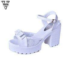 VTOTA Neue Sandalen Frauen Mode Frauen Sandalen Sommer Schuhe Frau Offene spitze Sandalen Starke Ferse mit hohen absätzen Bowtie Frauen schuhe