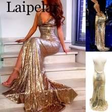 Женское вечернее платье макси laipelar длинное с глубоким v