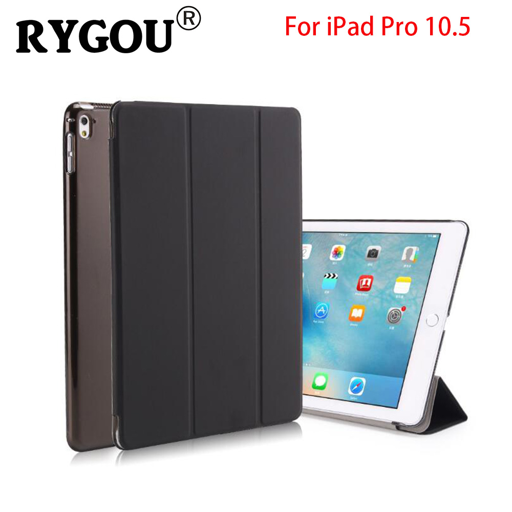 For iPad Pro 10.5 Case PU Leather Slim Smart Cover With Clear Back Cover Auto Sleep/Wake For Apple iPad Pro 10. 5 inch 2017 New official original 1 1 case cover for apple ipad pro 12 9 2017 cases tpu smart clear cover for ipad pro ipad plus 12 9 2015 case