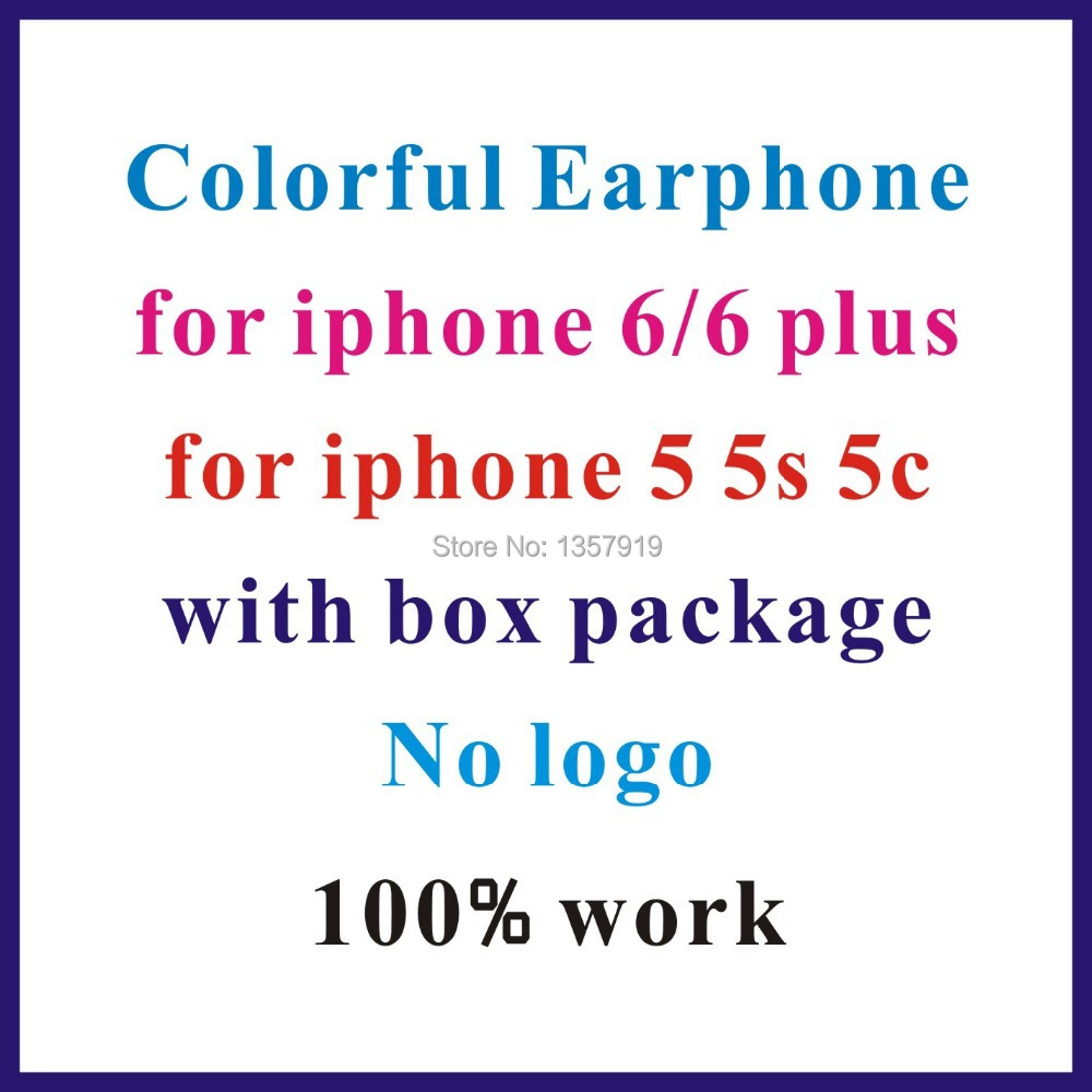 bilder für Niedrigsten preis!! kopfhörer Für Iphone 6 6 plus 5 Stereo Mit Mikrofon Fernbedienung in kleinkasten ohne logo 10 farben für wählen