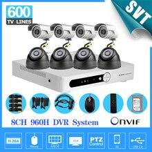Gravação de casa sistema de cftv 960 h 8ch AHD IR ao ar livre indoor HDMI dvr kit de vigilância câmera de segurança com disco rígido de 1 tb SK-197