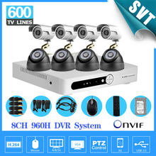 home cctv system 8ch 960h AHD recording IR outdoor indoor security camera surveillance HDMI dvr kit with hard disk 1tb SK-197