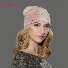 ab8264410de LILIYABAIHE Women Autumn And Winter Hat Girls Hats For Women Skullies Beanies  Fluff Caps Small flash