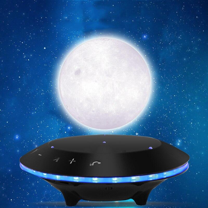 Украшения 3D магнитной левитации Динамик Луна лампы предметы интерьера Спальня книжный шкаф ночника домашнего декора дропшиппинг