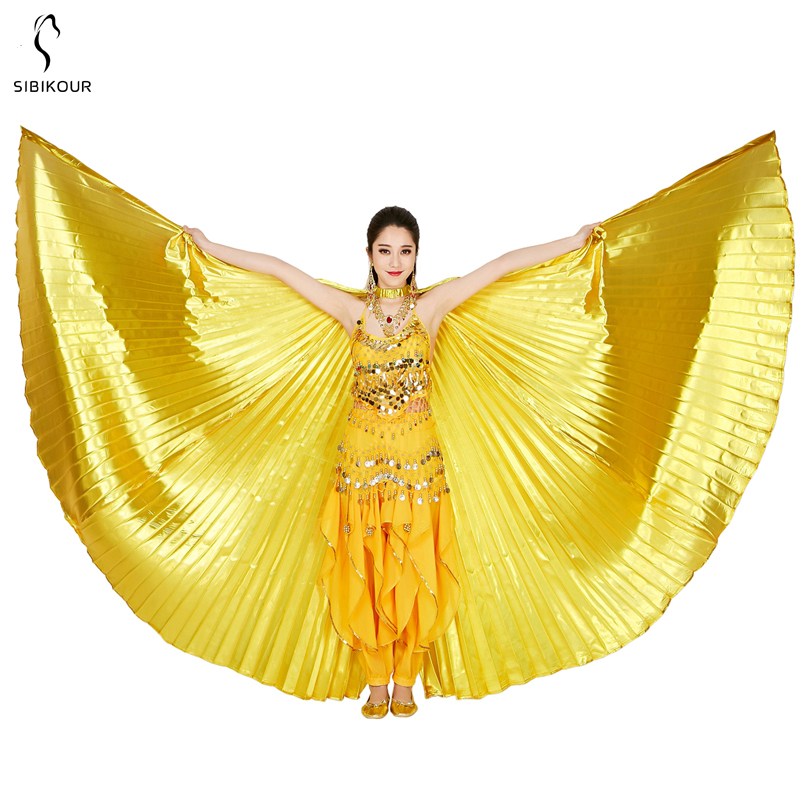 HTB1eYaFbG1s3KVjSZFAq6x ZXXay - Belly Dance Isis Wings Belly Dance Accessory Bollywood Oriental Egypt Egyptian Wings Costume With Sticks Adult Women Gold