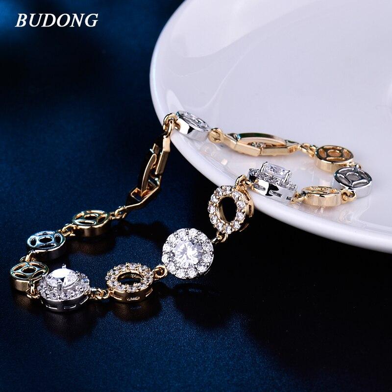 Talons hauts rouge à lèvres Cristal Argent Or Bracelet Chaîne Party Fashion Jewelry