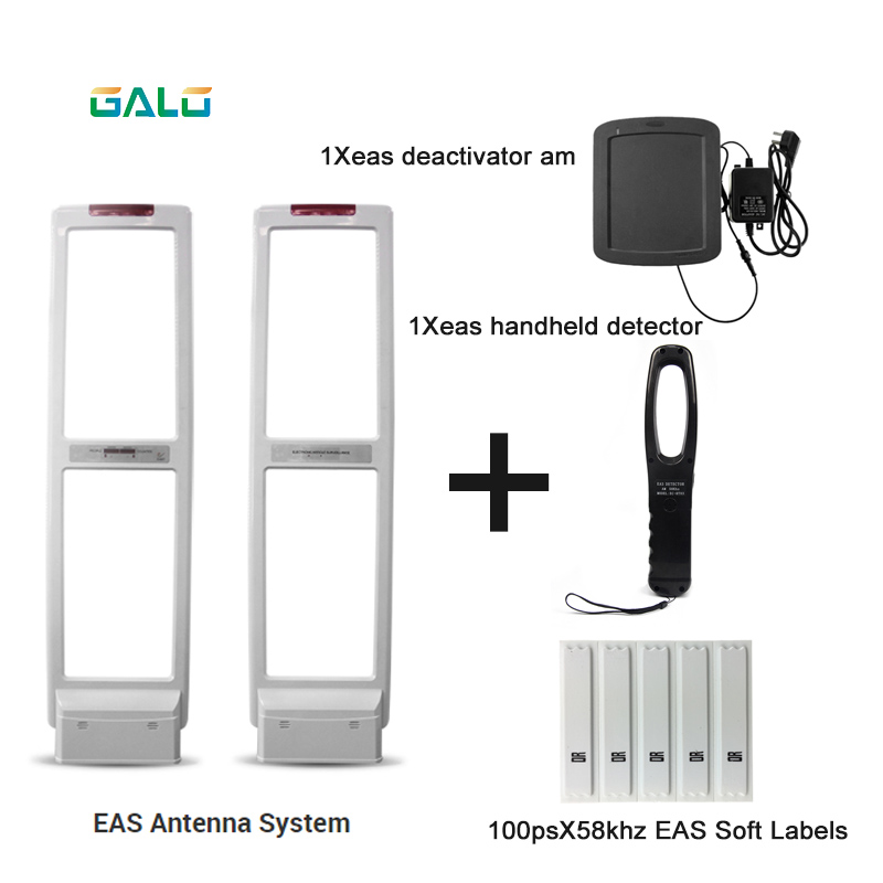 Shop security alarm Antenna AM EAS Anti-theft system with Soft Labels tags & Deactivator & Handheld Frequency TesterShop security alarm Antenna AM EAS Anti-theft system with Soft Labels tags & Deactivator & Handheld Frequency Tester