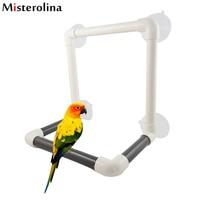 Ventosa portátil grande plegar ducha percha pájaro viajes juguete loro Bañeras ducha permanente plataforma rack loro de pie