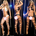 sexy bandgae lingerie set hot three point temptation bikini erotic lingerie sexy costume transparent babydoll teddies underwear