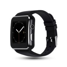 Купить с кэшбэком X6 Smart Watch Bluetooth Answer/Dial  Camera TF SIM Card Fitness Tracker Sport Reminder Bracelet For Android Phone PK DZ09 A1