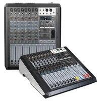 Mixing console registrador 48 v phantom power monitor aux efeito caminho 8-12 canal misturador de áudio usb vem com amplificador de potência jd