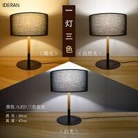 Лампа настольная книга свет кронштейн рабочего стола ретро ткань тени классический ретро лампа спальня столовая офисные природный дизайн