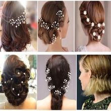 Bridal Hairpins Headwear Crystal Flower Hair Clips Wedding Barrette Pearl Hairdressing For Women Hair Styling Tools Accessories цена в Москве и Питере