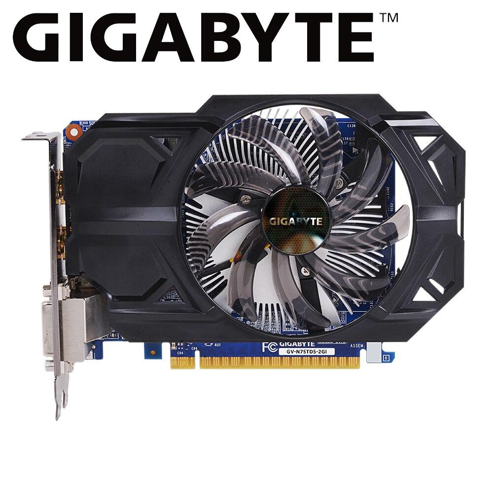 Carte graphique Gigabyte NVIDIA GeForce GTX 750 Ti carte graphique gtx 750 ti GV-N75TD5-2GI 2 go GDDR5 128 bits GPU pour pc cartes d'occasion