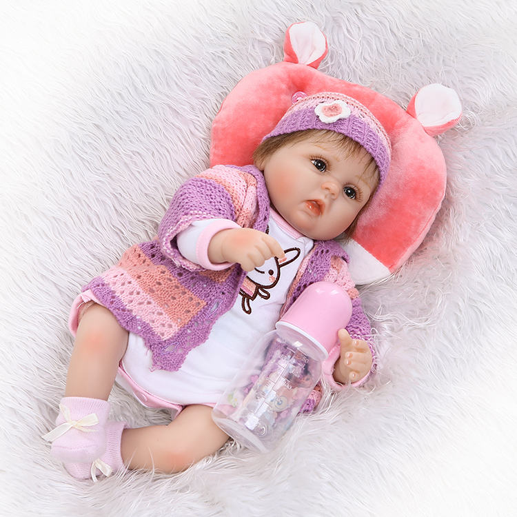 NPKCOLLECTION lifelike Silkworm reborn doll soft silicone vinyl real touch doll lovely clothes toys Christmas Gift