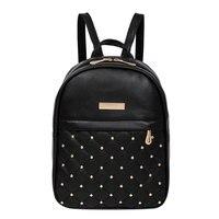 2017 Fashion Design Women Backpack Diamonds Rivet Leather Backpacks For Teenage Girls Female School Shoulder Bag