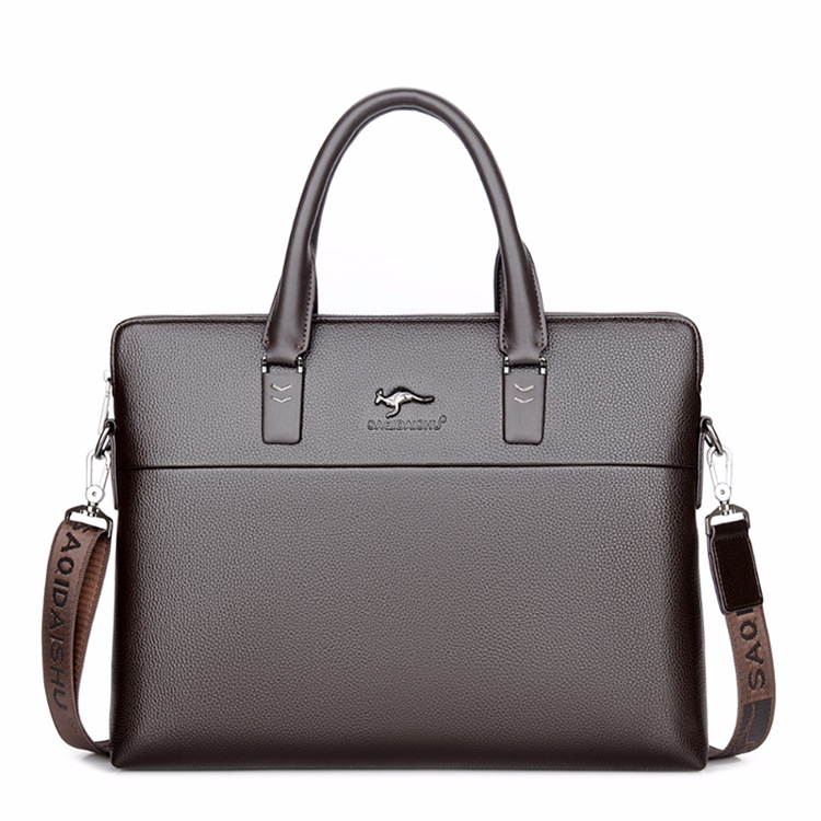 Men's Briefcase Tote Computer-Bag Business Casual Luxury New Boy Male Fashion Alligator