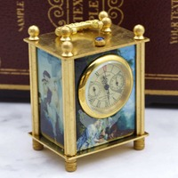 Top Brand Vintage LONDON Brass Mechanical Pocket Watch For Men Women with Fob Chain PJX048