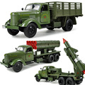 3Pcs/Lot Children's toys liberation truck missile launcher model rockets alloy car  truck model