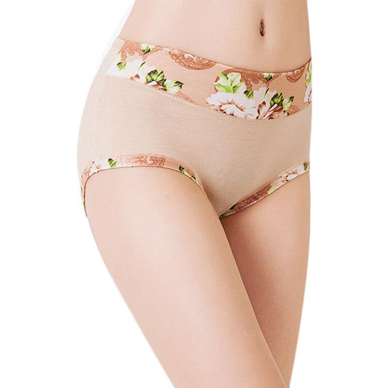Plus Size Women Underwear   Panties   Ladies Seamless y Briefs Floral Print Calcinhas Intimates Underpants Ropa