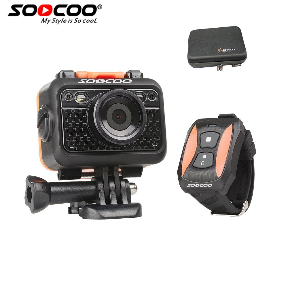 SOOCOO S60 Sports Action Camera Anti-Shock 30M Waterproof Wifi 1080P Full HD 170 Degree Lens Wireless Remote Control soocoo c30 sports action camera wifi 4k gyro 2 0 lcd ntk96660 30m waterproof adjustable viewing angles