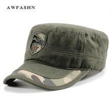 Мужские армейские кепки шапки военные регулируемые Красная звезда плоская шляпа Открытый камуфляж хлопок камуфляж тактический Bone Trucker значок орел
