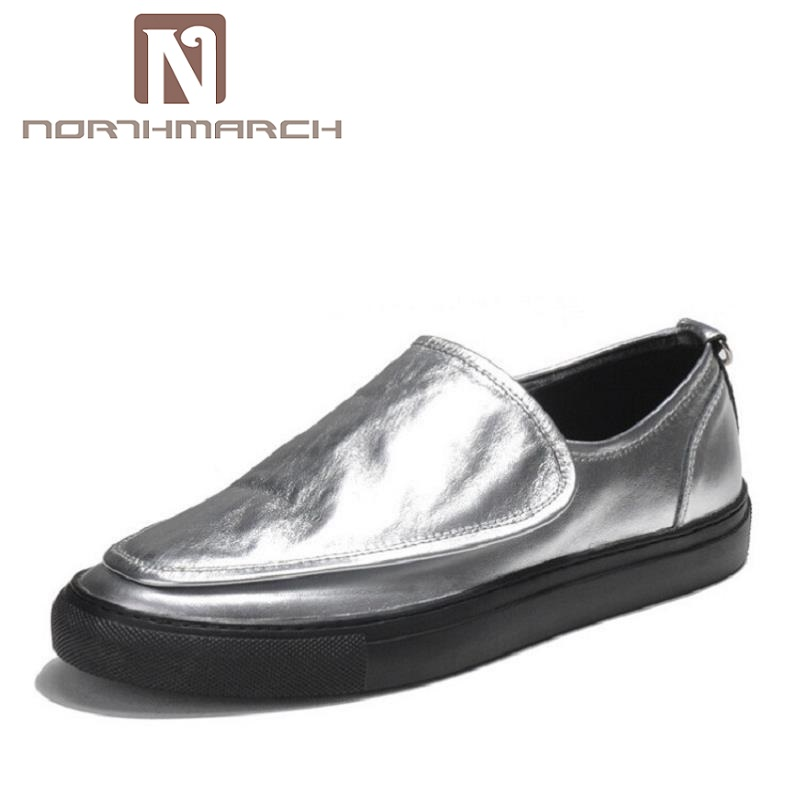 NORTHMARCH Luxury Fashion Men Casual Shoes Superstar Brand Sneakers Silver Waking Shoes Classic Leather Men Designer Shoes cangma superstar italian luxury brand shoes for woman genuine leather women casual orange silver classic shoes schoenen vrouwen