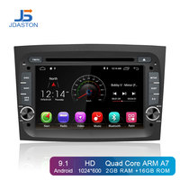 JDASTON Android 9.1 Car DVD Player For Fiat Doblo 2015 2016 GPS Navigation One Din Car Radio Stereo multimedia Steering Wheel SD