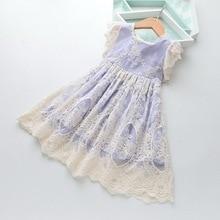 Robe dété en dentelle pour filles, tenue princesse dété, motif floral, pour enfants de 2 6 ans, LT016, vente en gros, 2019