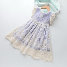 Wholesale 2019 Summer Flower Lace Girl Dress Kids Dresses for Girl Summer Princess Party Ball Gown Baby Clothes 2 6Y LT016