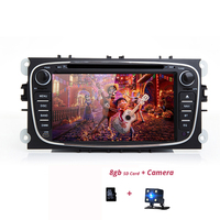 2 din Car Radio Stereo DVD Player GPS For Ford Focus Mondeo S MAX C MAX Galaxy Kuga 2Din Autoradio Car DVD Multimedia player