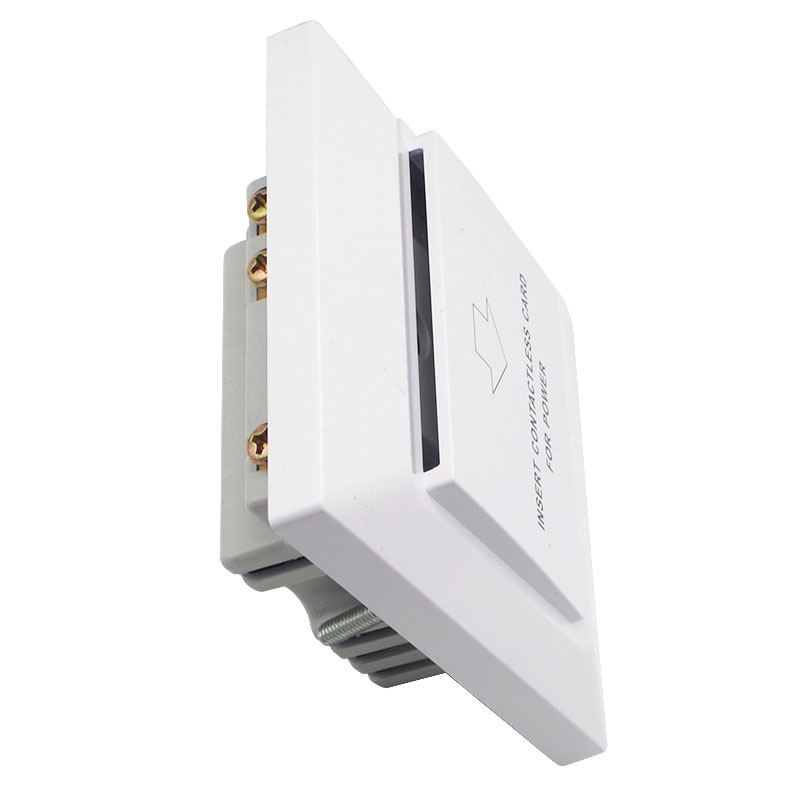Купить с кэшбэком White Color Special Design For Luxury Hotels Rfid F08 S50 Keycard System Insert Card To Take Power Saving Energy 15s Delay