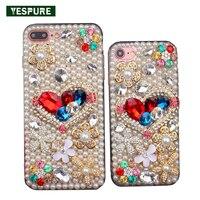 YESPURE Bling Glitter Kristal Inciler Telefon Aksesuarları Iphone 6 için Mobil artı 6 s artı Tpu Fantezi Kız için Evrensel telefon Kılıfı