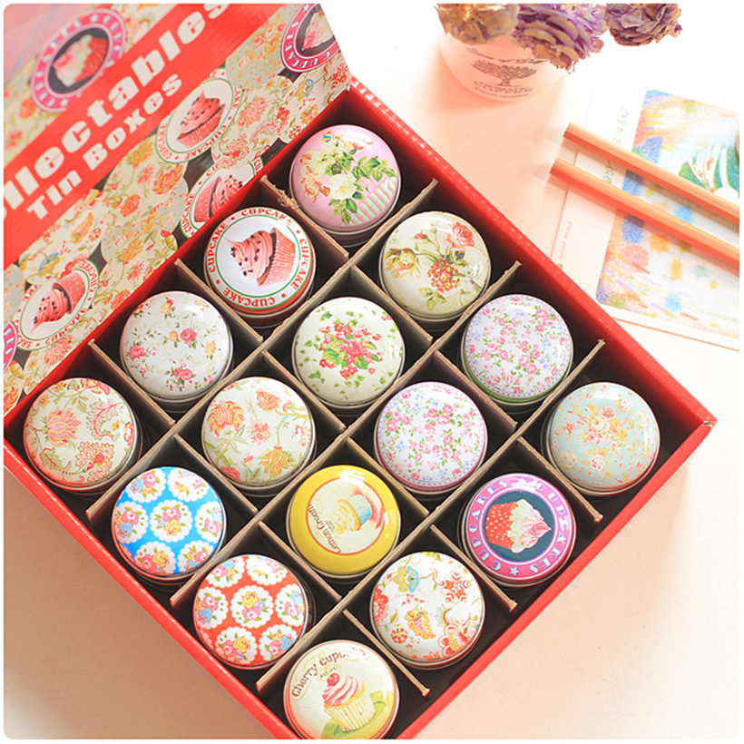 Free Shipping Mini Macaron Small Pill Storage Box Homemade Lipstick Comfrey Ointment Vaseline Tin Box Portable Pill Box 013-3