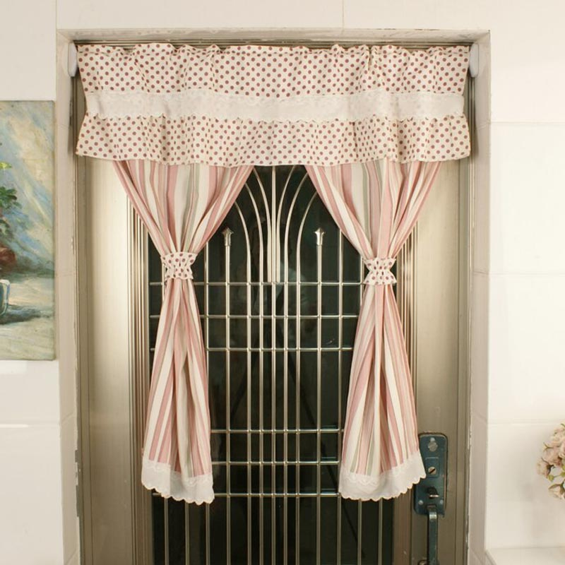 Nice Curtains American Rural Style Short Curtains For