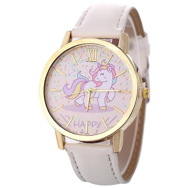 Fashion Hot Sale Men's And Women's Children's Watches Unicorn Leather With Quartz Watches Kids Watch