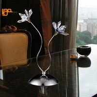 new design flower crystal light modern table light lustre home decoration cristal lampe table lighting